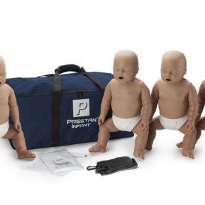 Prestan Infant CPR Manikins Dark Skin Four Pack